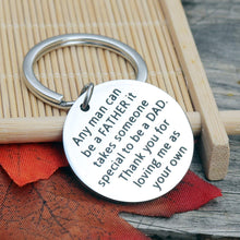 Load image into Gallery viewer, Father Stepdad Papa Keychain Gift