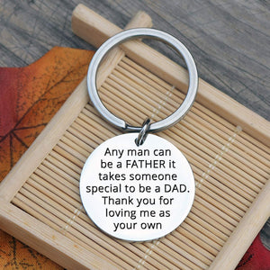 Father Stepdad Papa Keychain Gift
