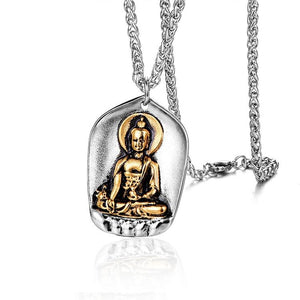 Lucky Buddha Two-tone Pendant
