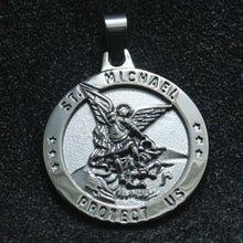 Load image into Gallery viewer, Saint Michael Protect Us Pendant
