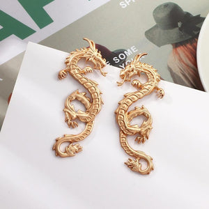 Golden Dragon Stud Earrings