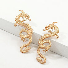 Load image into Gallery viewer, Golden Dragon Stud Earrings