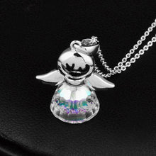Load image into Gallery viewer, Crystal Guardian Angel Pendant