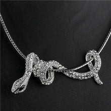 Load image into Gallery viewer, Rhinestone Snake Choker Necklace