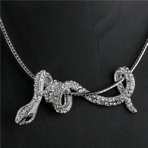 Rhinestone Snake Choker Necklace