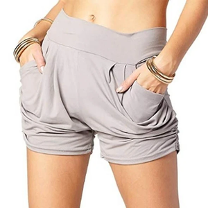 [Last Day Promotion & On-Time Delivery] Pleated Comfy Bamboo Soft Harem Shorts-Buy 2 Free Shipping