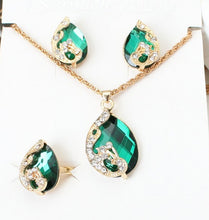 Load image into Gallery viewer, DIY creative peacock jewelry three-piece set
