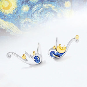 Van Gogh's Starry Sky Earrings