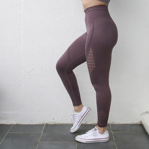 Nepoagym Women Energy Seamless Tummy Control Yoga Pants Super Stretchy Gym Tights High Waist Sport Leggings Running Pants
