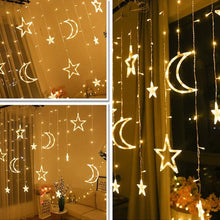 Load image into Gallery viewer, Moon & Star String Lights