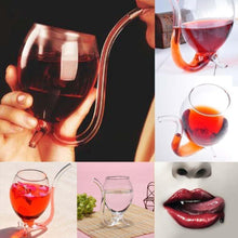 Load image into Gallery viewer, Wine Glass with Straw