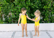The Tinsley Shoulder Tie In Yellow - BONBON SWIM