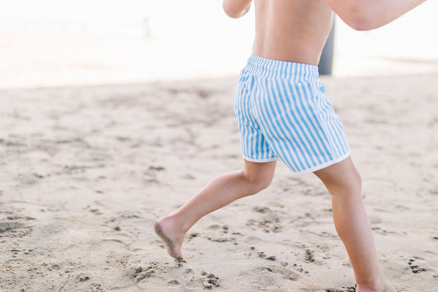 Jude Boy Board Shorts in Blue Stripe