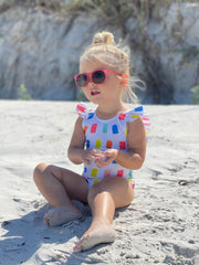 The Riley Ruffle One Piece in Popsicle