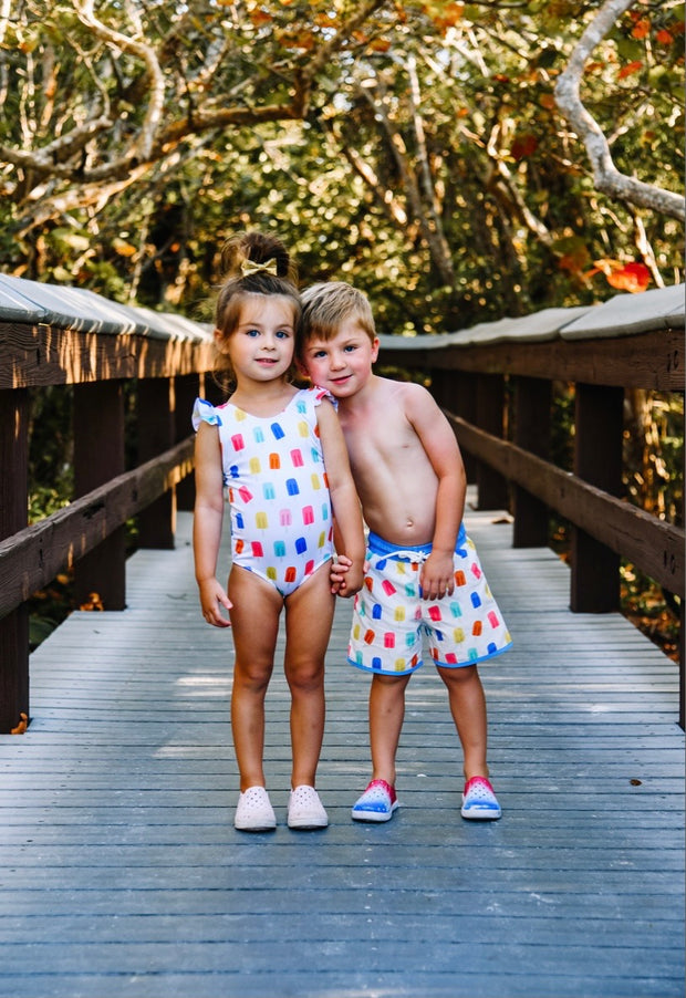 Jude Boy Board Shorts in Popsicle