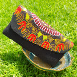Jute and Kitenge Fabric Clutch