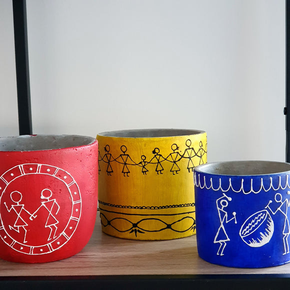 Hand-Painted Unity Pots