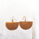 Recycled Brass Earrings