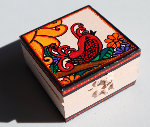 Wooden Jewellery Box (S) - Bird