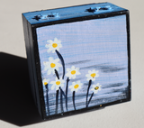 Wooden Jewellery Box (S) - Daisies