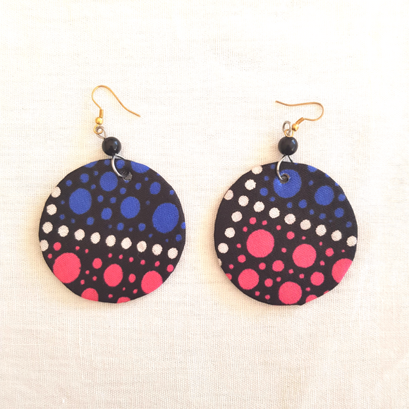 Kitenge Round Earrings