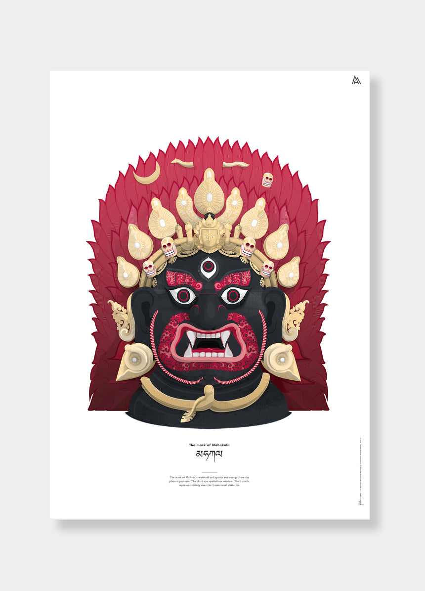 Illustration - Mahakala Mask - Reinhold Messner