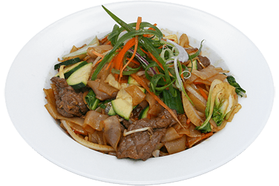 Mongolian Stir Fried Rice Noodle with Beef/Chicken