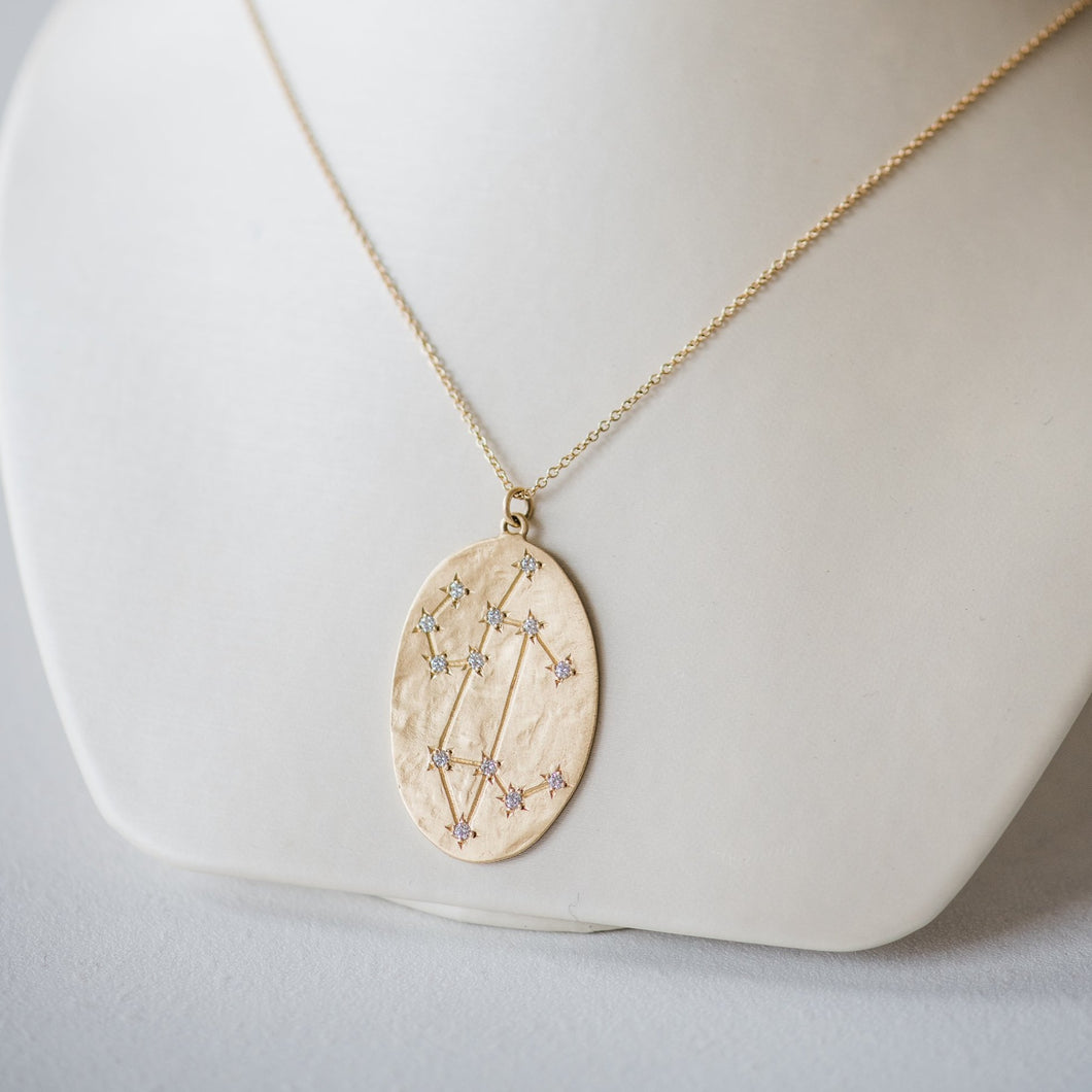 Brooke Gregson Leo Astrology. July 23rd - August 22nd 14K Brushed gold White diamonds .26ct