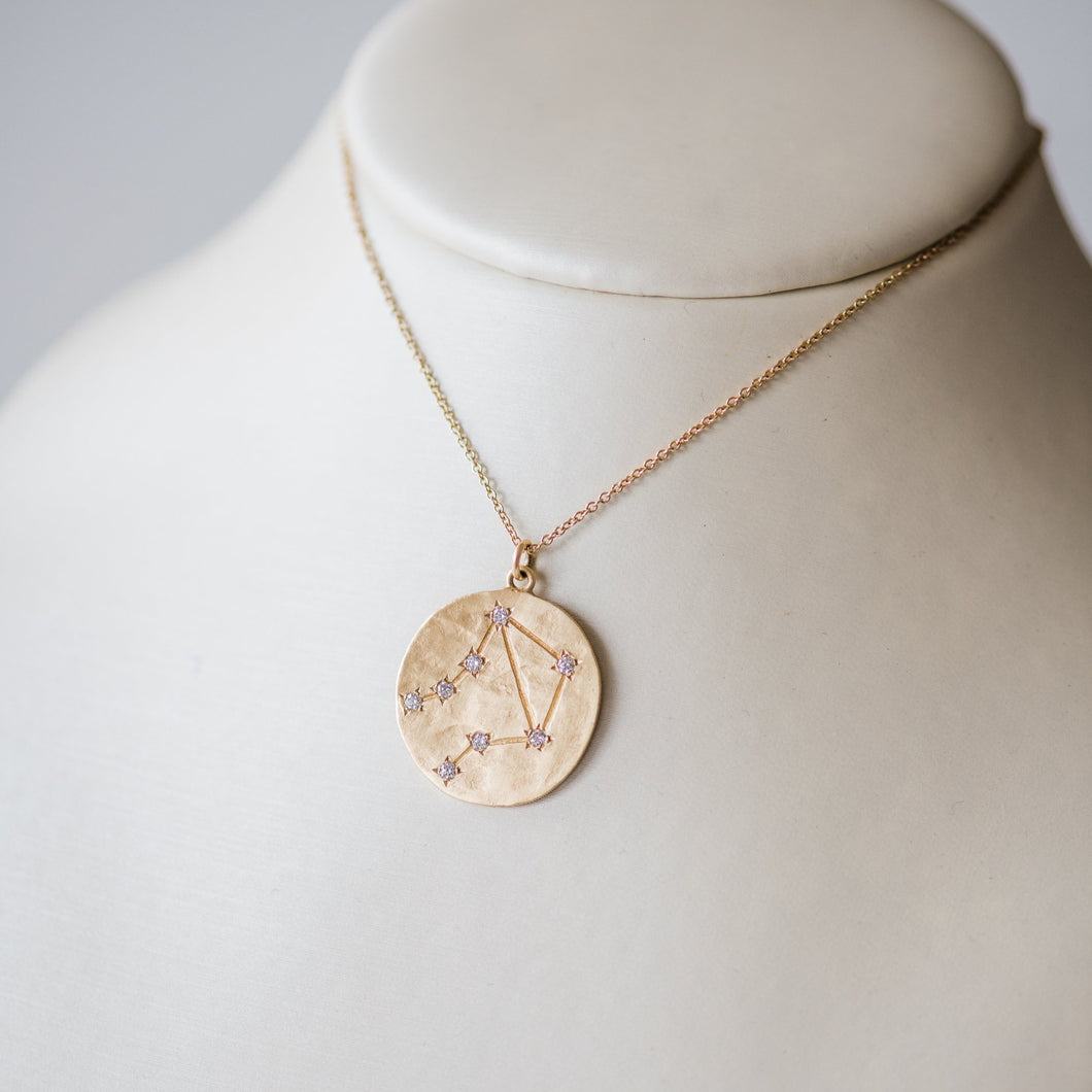 Brooke Gregson Libra Astrology. September 23rd- October 22nd 14K Brushed gold White diamond .16ct