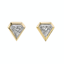 Load image into Gallery viewer, Shield Diamond Studs