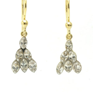 Drilled Marquis Diamond Earrings