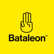 bataleon snowboards square logo with yellow background