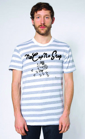 Bonifacio Rainbow No Cop No Stop Men's Tee T-Shirt Striped