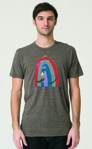 Bonifacio Rainbow 40 Men's Tri Blend Tee T-shirt Cocoa