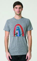 Bonifacio Rainbow 40 Men's Tri Blend Tee T-Shirt Gray