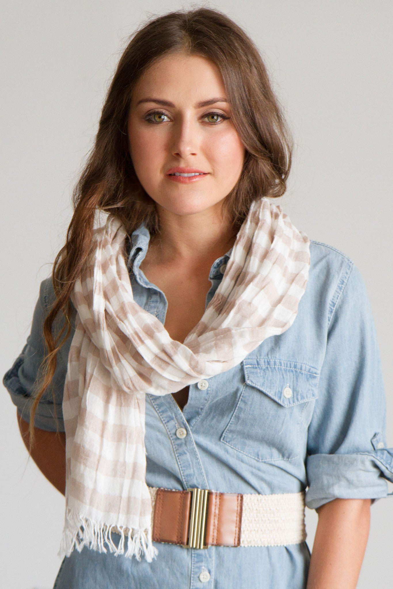 STRIPE SCARF / SARONG IN OAT