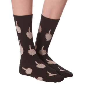 Ladies Middle Finger Sock, Black