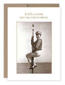 Life's A Climb Birthday Card