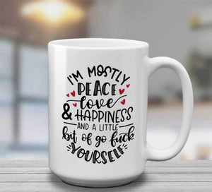 Peace Love & Happiness Mug