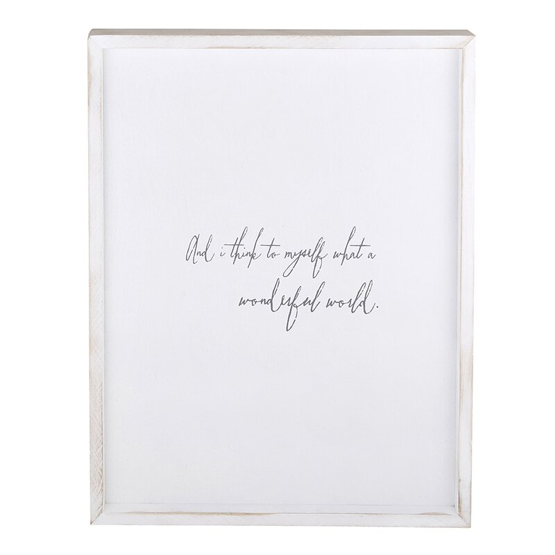 And I Think To Myself What A Wonderful World Wall Decor