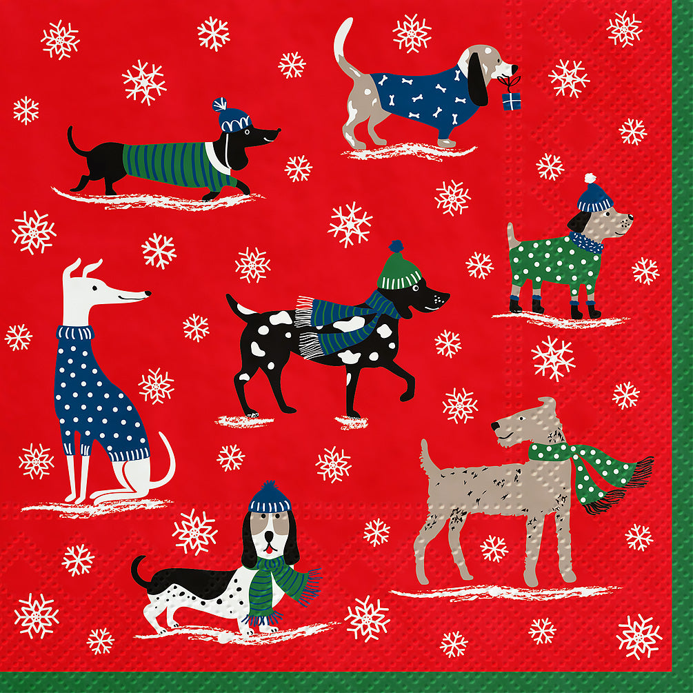 Winter Dogs Lunch Napkin