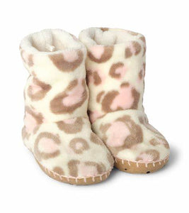 Hatley Kids Fleece Painted Leopard Slippers