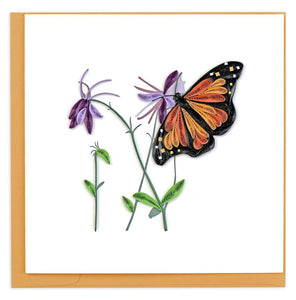Monarch Butterfly Quilling Card