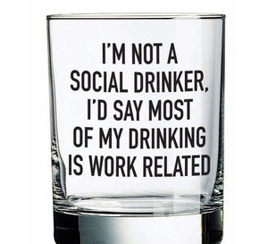 Social Drinker Rocks Glass