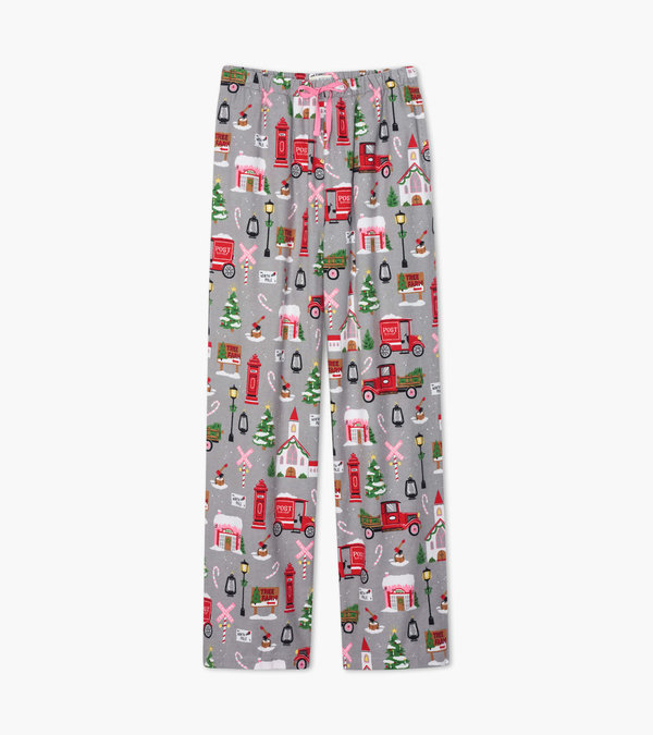 Hatley Christmas Village Women's Flannel Pajama Pants