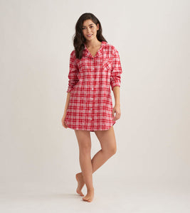 Hatley Retroplaid Ladies Flannel Nightshirt