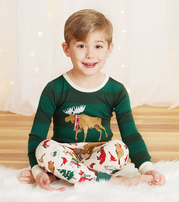 Hatley Woodland Winter Kids Appliqué Pajama Set