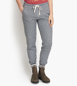 Hatley Marled Grey Moose Women's Heritage Slim Fit Joggers