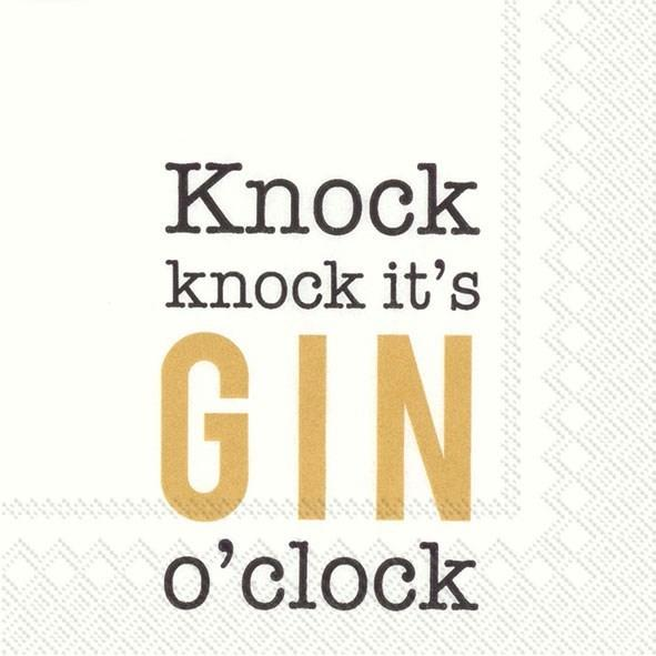 Gin O'Clock Cocktail Napkin