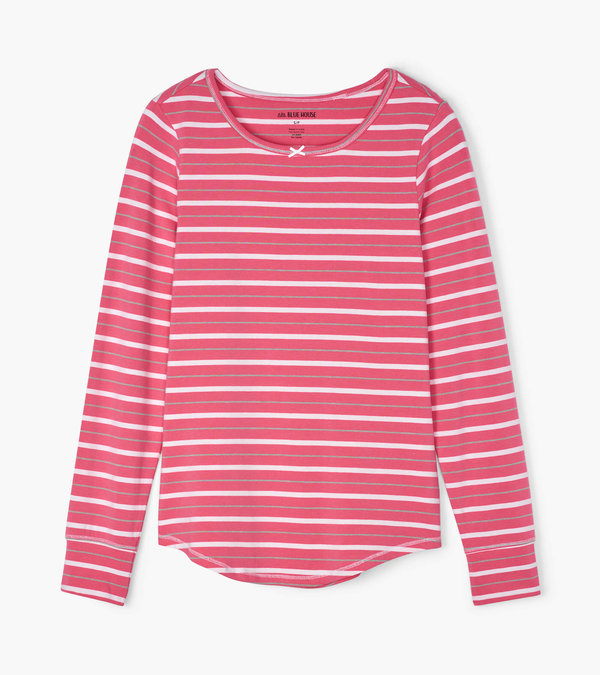 Hatley Christmas Village Stripe Women's Stretch Jersey Top